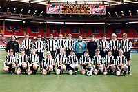 The Newcastle United players pose for a team photograph ahead of Manchester United Ladies vs Newcastle United Ladies, Charity Match Football at Wembley Stadium on 11th August 1996