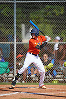 Parker Lester (5) during the WWBA World Championship at Terry Park on October 8, 2020 in Fort Myers, Florida.  Parker Lester, a resident of Calhoun, Georgia who attends Calhoun High School, is committed to Miami (OH).  (Mike Janes/Four Seam Images)