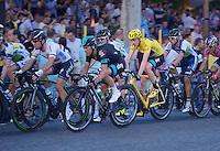 Chris Froome (GBR) in the pack<br /> <br /> Tour de France 2013<br /> (final) stage 21: Versailles - Paris Champs-Elysées<br /> 133,5km