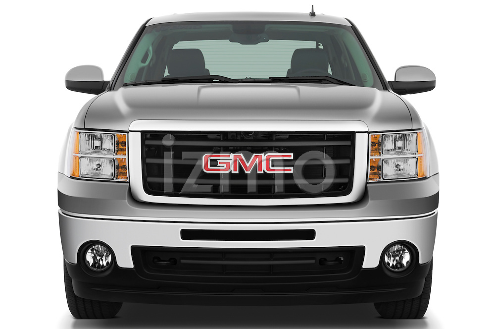 Straight front view of a 2009 GMC Sierra Hybrid