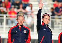 Boyds, MD - Saturday May 07, 2016: Washington Spirit midfielder Joanna Lohman (15) and  forward Cali Farquharson (17) during a regular season National Women's Soccer League (NWSL) match at Maureen Hendricks Field, Maryland SoccerPlex. Washington Spirit tied the Portland Thorns 0-0.