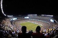 Stadium. The men's national team of Brazil (BRA) defeated the United States (USA) 2-0 during an international friendly at the New Meadowlands Stadium in East Rutherford, NJ, on August 10, 2010.