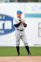 Hudson Valley Renegades second baseman Miles Mastrobuoni (9) during a game against the Batavia Muckdogs on July 31, 2016 at Dwyer Stadium in Batavia, New York.  Hudson Valley defeated Batavia 4-1.  (Mike Janes/Four Seam Images)