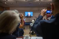 """PK der Staatskanzlei Sachsen-Anhalt und Landesamt fuer Denkmalpflege und Archaeologie zur Vorstellung von """"Martin Luther visuell in 3D""""  und drei geplanter Luther-Ausstellungen in den USA, u.a. mit Kulturminister Robra, dem Leiter des Landesamtes fuer Denkmalpflege und Archaeologie, Prof. Harald Meller und Tony Loeser, dem Chef der Firma motionworks, welche die 3D-Animation erstellte.<br /> 21.9.2016, Berlin<br /> Copyright: Christian-Ditsch.de<br /> [Inhaltsveraendernde Manipulation des Fotos nur nach ausdruecklicher Genehmigung des Fotografen. Vereinbarungen ueber Abtretung von Persoenlichkeitsrechten/Model Release der abgebildeten Person/Personen liegen nicht vor. NO MODEL RELEASE! Nur fuer Redaktionelle Zwecke. Don't publish without copyright Christian-Ditsch.de, Veroeffentlichung nur mit Fotografennennung, sowie gegen Honorar, MwSt. und Beleg. Konto: I N G - D i B a, IBAN DE58500105175400192269, BIC INGDDEFFXXX, Kontakt: post@christian-ditsch.de<br /> Bei der Bearbeitung der Dateiinformationen darf die Urheberkennzeichnung in den EXIF- und  IPTC-Daten nicht entfernt werden, diese sind in digitalen Medien nach §95c UrhG rechtlich geschuetzt. Der Urhebervermerk wird gemaess §13 UrhG verlangt.]"""