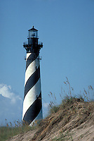 The Buxton Lighthouse is threatened by severe beach erosion. Buxton NC USA Cape Hatteras.