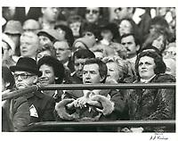 Le maire Drapeau et Joe Clark<br /> lors du week end de la Coupe Grey en novembre 1979<br /> <br /> PHOTO :   Agence Quebec Presse