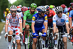 Julian Alaphilippe (FRA) Deceuninck-Quick Step and Polka Dot Jersey winner Romain Bardet (FRA) AG2R La Mondiale at the start of Stage 21 of the 2019 Tour de France running 128km from Rambouillet to Paris Champs-Elysees, France. 28th July 2019.<br /> Picture: ASO/Alex Broadway   Cyclefile<br /> All photos usage must carry mandatory copyright credit (© Cyclefile   ASO/Alex Broadway)