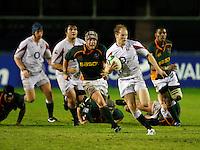 Photo: Richard Lane/Richard Lane Photography. England U20 v South Africa U20. Semi Final. 18/06/2008. England's Joe Simpson attacks from deep.