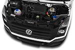 Car Stock 2014 Volkswagen CRAFTER 2.0TDI 4 Door Cargo Van Engine high angle detail view