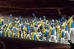 Olympic team of Kazakhstan during the parade of nations at the Opening ceremony of the 2014 Sochi Olympic Winter Games at Fisht Olympic Stadium on February 7, 2014 in Sochi, Russia. Photo by Victor Fraile / Power Sport Images