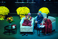 Montreal  (QC) CANADA - Oct 3 2009 - The Dalai Lama speak in front of 15,000 people at the Bell Centre in Montreal.