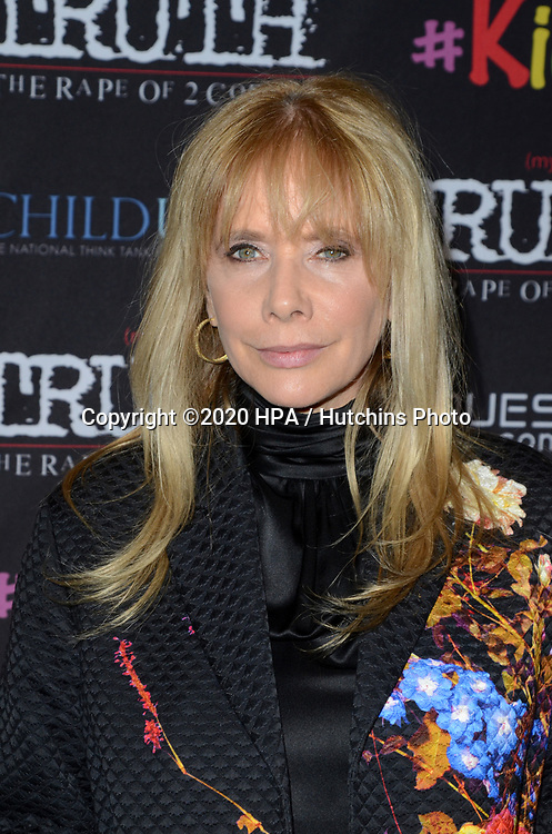 """LOS ANGELES - MAR 9:  Rosanna Arquette at the """"(My) Truth: The Rape of 2 Coreys"""" L.A. Premiere at the DGA Theater on March 9, 2020 in Los Angeles, CA"""