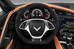 Car pictures of steering wheel view of a 2018 Chevrolet Corvette Grand-Sport-2LT 3 Door Coupe Steering Wheel