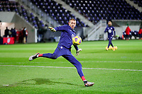 WIENER NEUSTADT, AUSTRIA - NOVEMBER 16: Ethan Horvath #22 of the United States warming up before a game between Panama and USMNT at Stadion Wiener Neustadt on November 16, 2020 in Wiener Neustadt, Austria.