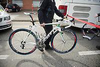 Heinrich Haussler's (AUS/IAM) ozzie customized SCOTT Foil bike (before the start)<br /> <br /> 58th E3 Harelbeke 2015