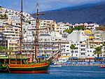 Spanien, Kanarische Inseln, Teneriffa, Los Christianos: Urlaubsort und Hafen im Sueden | Spain, Canary Islands, Tenerife, Los Christianos: resort and harbour in the south
