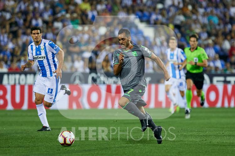 Real Sociedad's Juan Miguel Jimenez during La Liga match. August 24, 2018. (ALTERPHOTOS/A. Perez Meca)