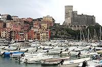 Una veduta del porto di Lerici, col Castello in alto sulla destra.<br /> A view of the harbor of Lerici, with the Castle at top right.<br /> UPDATE IMAGES PRESS/Riccardo De Luca