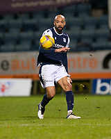 29th December 2020; Dens Park, Dundee, Scotland; Scottish Championship Football, Dundee FC versus Alloa Athletic; Liam Fontaine of Dundee plays the ball forward