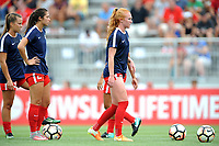 Boyds, MD - Saturday August 12, 2017: Tori Huster, Arielle Ship, Meggie Dougherty Howard during a regular season National Women's Soccer League (NWSL) match between the Washington Spirit and The Boston Breakers at Maureen Hendricks Field, Maryland SoccerPlex.