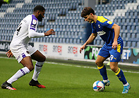 Ryan Longman of AFC Wimbledon and Ethan Ebanks-Landell of Shrewsbury Town during AFC Wimbledon vs Shrewsbury Town, Sky Bet EFL League 1 Football at The Kiyan Prince Foundation Stadium on 17th October 2020