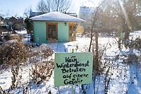 Café im Kräutergarten von Kloster Lehnin im Winter, Kloster Lehnin, Potsdam-Mittelmark, Brandenburg, Deutschland