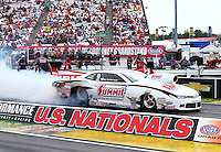 Aug 30, 2014; Clermont, IN, USA; NHRA pro stock driver Greg Anderson during qualifying for the US Nationals at Lucas Oil Raceway. Mandatory Credit: Mark J. Rebilas-USA TODAY Sports