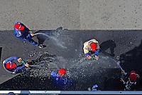 17-19  July, 2009, Birmingham, Alabama USA.Koni Challenge GS podium: spraying the champange..©2009 F.Peirce Williams, USA.