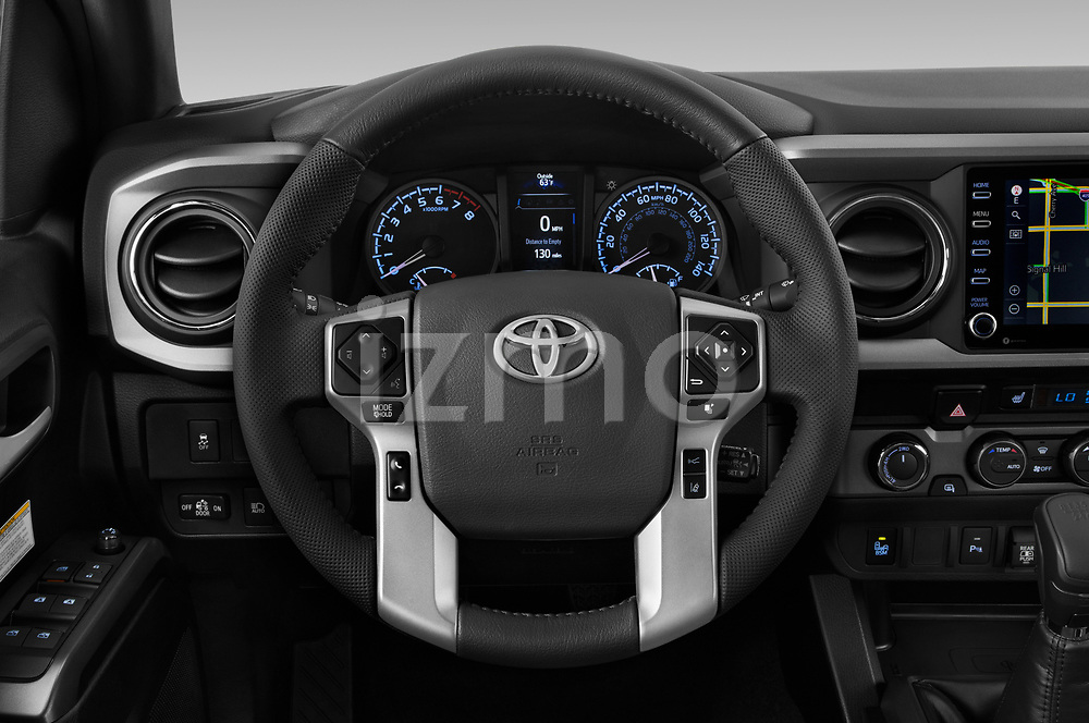 Car pictures of steering wheel view of a 2020 Toyota Tacoma TRD-Off-Road 4 Door Pick-up Steering Wheel