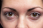 close-up of woman's face and eyes