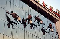 China, Peking, Fensterputzer
