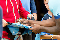 Autographs during the Wycombe Wanderers 2016/17 Team & Individual Squad Photos at Adams Park, High Wycombe, England on 1 August 2016. Photo by Jeremy Nako.