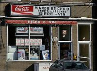Montreal (Qc) CANADA - June 1999 File photo -  A depanneur : Typical Quebec province convenience store