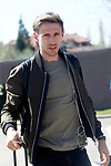 Spain's Nacho Monreal arrives to the national football team stage. March 20,2017.(ALTERPHOTOS/Acero)