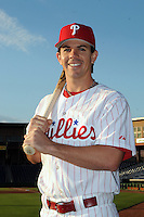 Feb 20, 2009; Clearwater, FL, USA; The Philadelphia Phillies catcher Tuffy Gosewich (77) during photoday at Bright House Field. Mandatory Credit: Tomasso De Rosa/ Four Seam Images