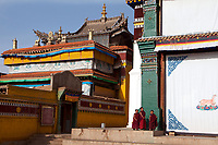 Upper Wutan Monastery, Rebgong (Chinese name - Tongren),  on the Qinghai-Tibetan Plateau. China.