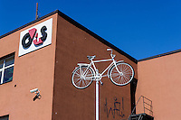 Fahrradverleih in Klaipeda, Litauen, Europa