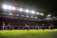 Spain's Sergio Busquets (C) during the pre-International Friendly training session of the Spain squad at the Principality Stadium, Cardiff, UK. Wednesday 10 October 2018