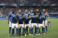 International friendly football match France vs Italy, Allianz Riviera, Nice, France, June 1, 2018. <br /> Italy players pose for the pre match photograph prior to the international friendly football match between France and Italy at the Allianz Riviera in Nice on June 1, 2018.<br /> UPDATE IMAGES PRESS/Isabella Bonotto