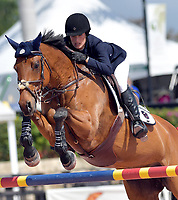 WELLINGTION, FL - MARCH 01: Class Class 100 - FEI $5000 LuganoDiamonds Welcome Stake. Jessica Rae Springsteen (born December 30, 1991) is an American show jumping champion rider who has represented the United States in the Show Jumping World Cup and the 2012 FEI Nations Cup.Jessica is the second child and only daughter of Bruce Springsteen and Patti Scialfa on March 01, 2018  in Wellington, Florida.<br /> <br /> People:  Jessica Rae Springsteen