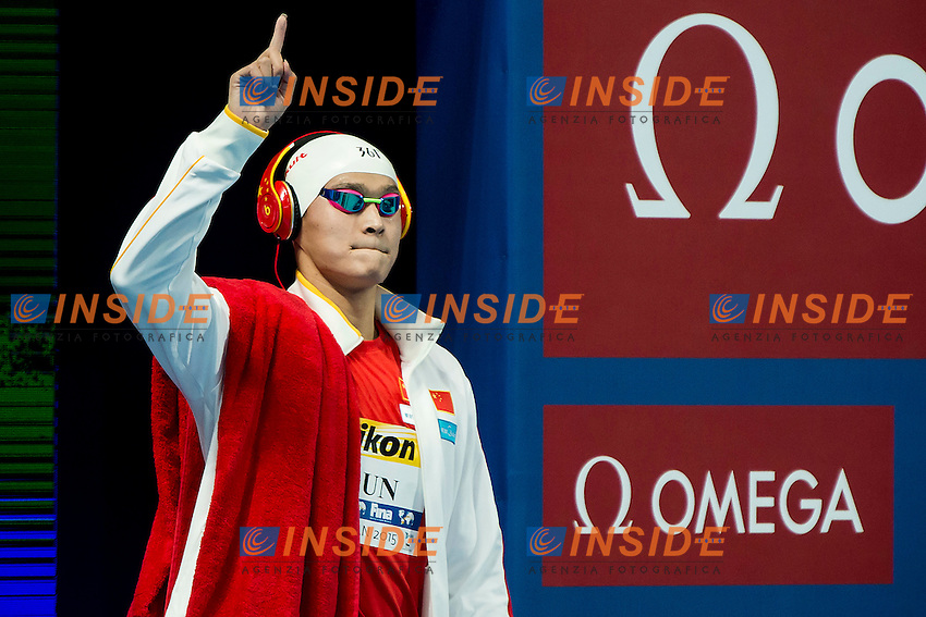 YANG Sun CHN<br /> 400 Freestyle Men Final Gold Medal<br /> Swimming Kazan Arena<br /> Day10 02/08/2015<br /> XVI FINA World Championships Aquatics Swimming<br /> Kazan Tatarstan RUS July 24 - Aug. 9 2015 <br /> Photo A.Masini/Deepbluemedia/Insidefoto