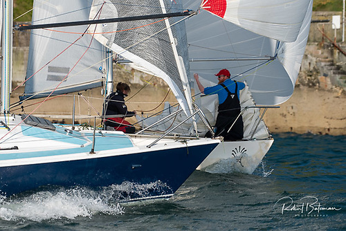 Last night's combined club race featured breezy sailing conditions as cruiser-racing returns to strength in Cork Habour
