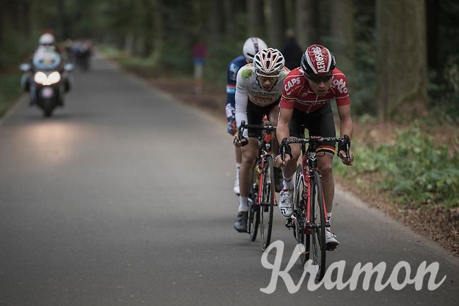 Tosh Van der Sande (BEL/Lotto-Soudal) leading the last breakaway<br /> <br /> 83rd Nationale Sluitingsprijs Putte-Kapellen 2016 (UCI Europe Tour cat 1.1 / 189km)