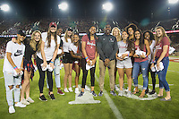 STANFORD, CA - October 8, 2016: Stanford Women's Basketball Team at Stanford Stadium. The Washington State Cougars defeated the Cardinal 42-16.