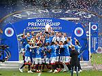 15.05.2021 Rangers v Aberdeen: James Tavernier lifts the trophy