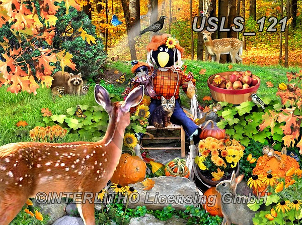 Lori, REALISTIC ANIMALS, REALISTISCHE TIERE, ANIMALES REALISTICOS, zeich, paintings+++++Autumn Welcome_10_10in_72,USLS121,#a#, EVERYDAY ,puzzle,puzzles