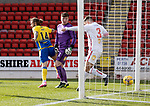 St Johnstone v Brechin City…10.10.20   McDiarmid Park  Betfred Cup<br />Stevie May scores to make it 1-0<br />Picture by Graeme Hart.<br />Copyright Perthshire Picture Agency<br />Tel: 01738 623350  Mobile: 07990 594431