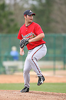 March 22nd 2008:  James Parr of the Atlanta Braves minor league system during a Spring Training camp day at Disney's Wide World of Sports in Orlando, FL.  Photo by:  Mike Janes/Four Seam Images