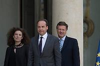 Paris (75),Le President de la Republique, Franeois HOLLANDE, recoit samedi 25 juin 2016 les representants des partis politiques francais au Palais de l Elysee. Union des Democrates et Independants: Jean-Christophe LAGARDE, Chantal JOUANNO, Jean ARTHUIS, Arnaud RICHARD