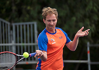 Moscow, Russia, 13 th July, 2016, Tennis,  Davis Cup Russia-Netherlands, Training Dutch team, Matwe Middelkoop (NED)<br /> Photo: Henk Koster/tennisimages.com
